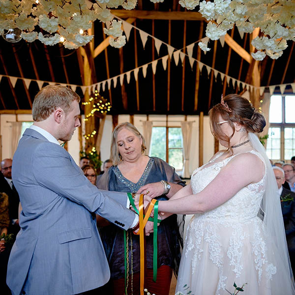 handfasting at wedding