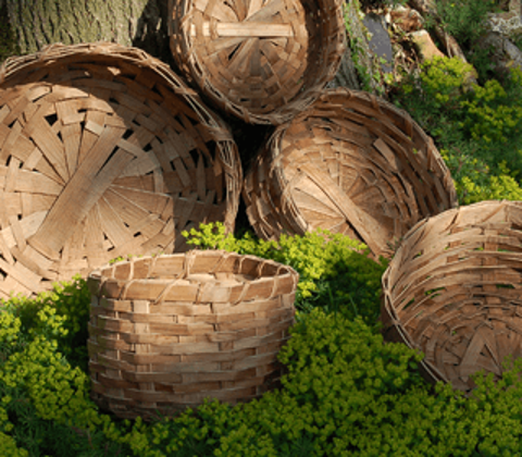Baskets made by the Field Farm Project